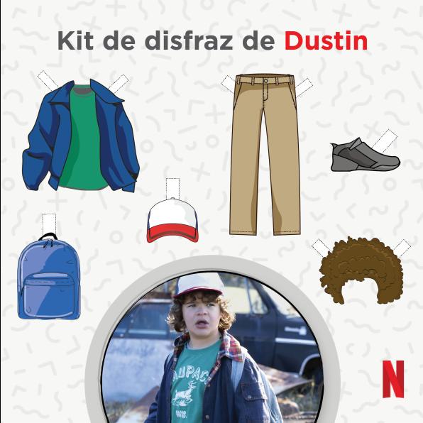 Disfraz de Dustin en Stranger Things