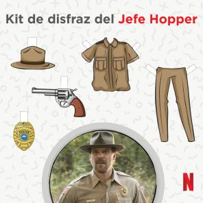 Disfraz de Jefe Hopper en Stranger Things