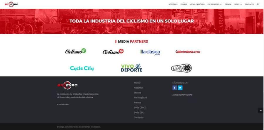 Testigo Media Partner en BiciEXpo 2017 (octubre 2017)