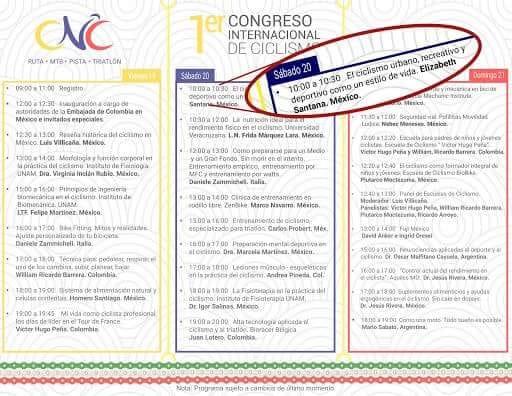 1er congreso iternacional de ciclismo